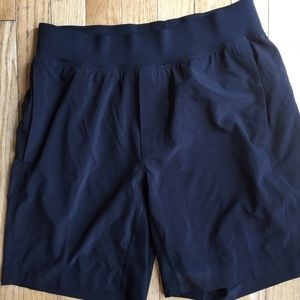 Men's small lululemon T.H.E shorts linerless black